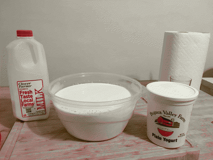 A picture of milk and yogurt.