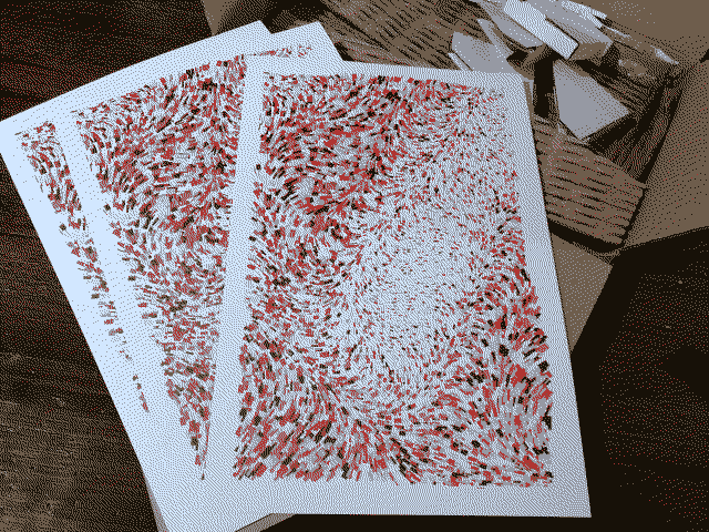 Prints of my art that looks like a fingerprint that I just took out of the box.